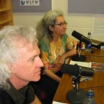 Nora Guthrie and Bucky Halker @ WLUW Radio, Chicago, 2005