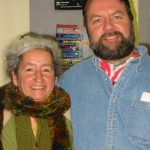 WLUW-Chicago DJ Tom Jackson and Nora Guthrie, 2005