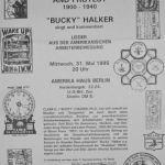 Bucky Halker - Berlin, Germany (1995)