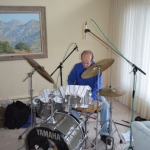 Joe Lindzius on the drums