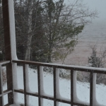 November Snowstorm on Lake Superior, Ashland, Wisconsin